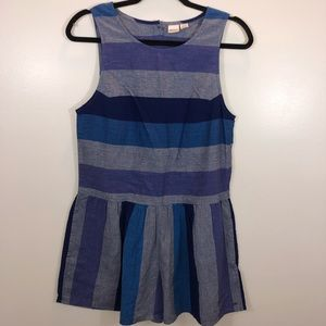 ROXY Blue Striped Romper